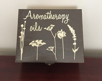 Essential oil storage box, convenient and beautiful for organizing those tiny precious bottles.  May be customized to your liking.