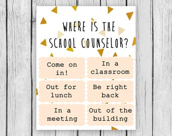 Where is the School Counselor School Counselor Psychologist Therapist Modern Geo Guidance Privacy Door Clip Lunch Bunch Group Counseling