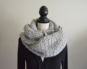 XL Herringbone Chunky Scarf // Knitted Scarf // Oversized Knit Scarf // Chunky Oversized Knits // Long Knit Scarf