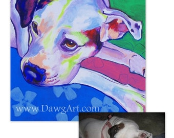 Custom Pet Portrait, 18x24, DawgArt, Dog Art, Pet Portrait, Custom Dog Painting, Custom Cat Painting, Colorful Art, Pet Portrait Artist