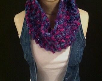 Crocheted Bobble Cowl/Neckwarmer/Infinity Scarf - FREE U.S. SHIPPING