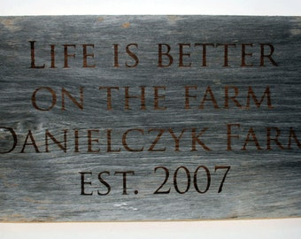 100 year old barn wood signs, custom barn wood signs, personalized signs, antique signs