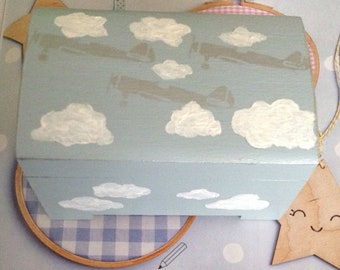 Wooden box for baby's room