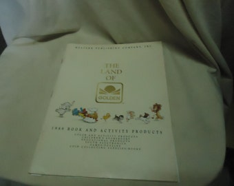 Vintage 1989 The Land Of Golden Book and Activity Products Catalog Magazine, collectable