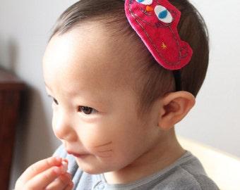 Cat headband for children or adult in felt /Serre-tête enfant ou adulte avec feutrine