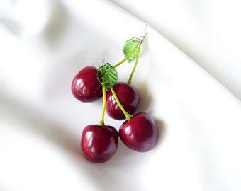 Lungs Cherry Earrings