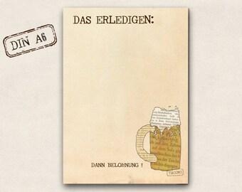 Notepad - beer as a reward