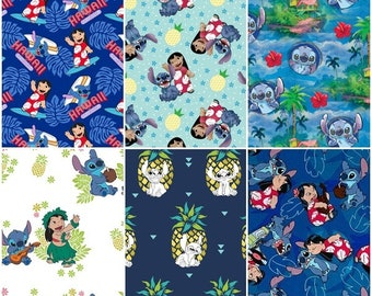 Lilo & Stitch Cotton Fabric by Springs Creative! 6 Options [Choose Your Cut Size]