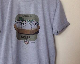 Men's T-shirt grey ' dumplings ' de ' the Rooftops ® '