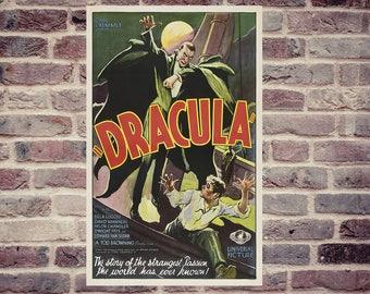 Dracula vintage movie poster. Movie poster. Horror movie poster. Vintage horror movie poster. Dracula vintage horror movie poster.