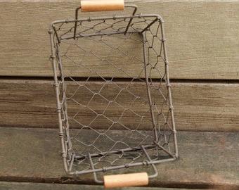 Rustic Wire Basket Set of 5 | Farmhouse Decor | Gift Basket | Tea Storage & Organization | Storage Basket Craft Supplies The Tiny House Farm