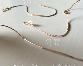 Minimalist String Bracelet/ Cord Bracelet with Tiny Gold or Silver Miniature Beads / Dainty Minimal Layering Bracelet