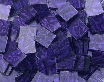 Violet Van Gogh Glass Mosaic Tiles