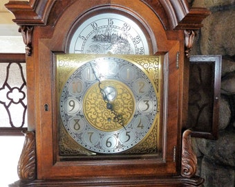 COLONIAL of Zeeland 9 Tube 3 Weights GRANDFATHER CLOCK