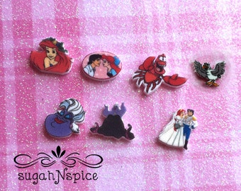 The Little Mermaid Floating Charms - The Little Mermaid Memory Charms - Ariel Floating Charms - Ariel Memory Charms - Ariel Memory Locket