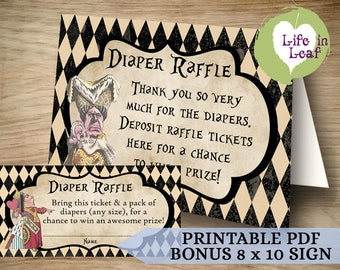 Your Wonderland Story Diaper Raffle Tickets