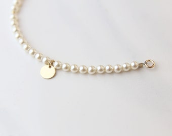 Personalized Pearl Bracelet // Bridesmaid gift / Friendship Bracelet