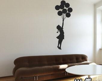 Banksy Floating Balloon Girl Wall Sticker