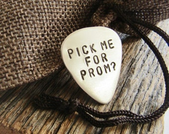 Pick Me for Prom? Personalized Guitar Pick Music Promposal Idea Prom Ask To Boy Ways to Ask Someone to Prom Custom Guitar Plectrum Prom 2017