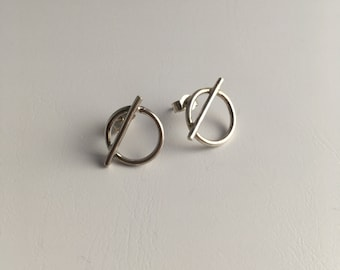 Handmade silver minimalist earrings