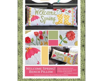 "Pattern - ""Welcome Spring!"" Bench Pillow Paper Sewing Pattern / Instruction Booklet by KimberBell (KD173)"