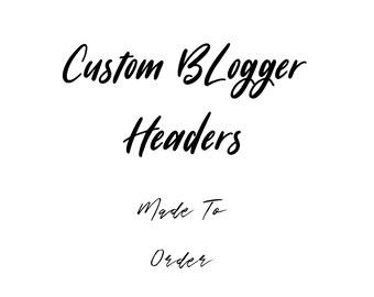 Premade Blog Header - Premade Blog Header / You Choose Custom Colours! / Calligraphy header for your blog / Custom Blog Header / Watercolor