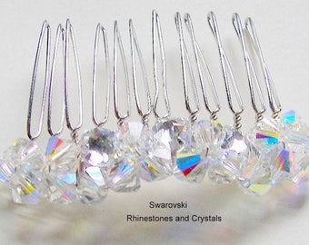 Bridal Hair Comb Swarovski Crystal and Rhinestone, Wedding Hair Comb, Wedding Party Gift, Mother of the Bride/Groom Hair Comb