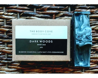 Dark Woods Body Bar - All natural soap, Handmade soap, Vegan soap, Cold process soap, Essential oil soap