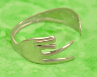 PEACE Fork bracelet, Silverware Jewelry