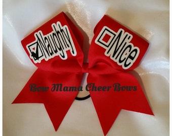 Naughty or Nice Christmas Cheer Bow