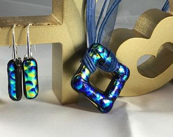 unique fused glass jewellery set