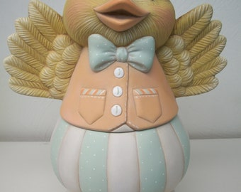 Ceramic Easter Duck Bloomer Duck Easter decoration