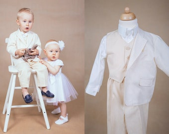 Ring bearer outfit Wedding boy suit Boy wedding outfit Ring bearer suit Wedding suit Blessing boy suit Wedding toddler outfit Toddler suit