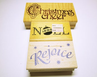 RUBBER STAMPS Christmas Quote Rubber Stamps Christmas Stamps Card Making Scrapbooking Rubber Stamp Supplies Word Quote Stamps