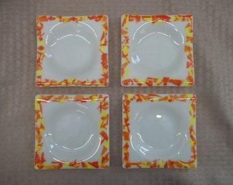 Fused Glass Coaster Set