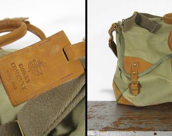 Gokey Bootlegger Duffle Bag Leather and Canvas Large Travel Luggage