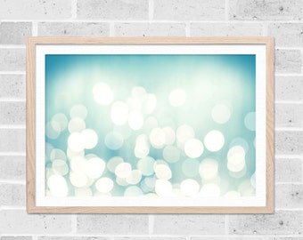 abstract wall art large abstract art geometric print nautical wall art geometric bokeh photograph beach photography ocean aqua pastel teal