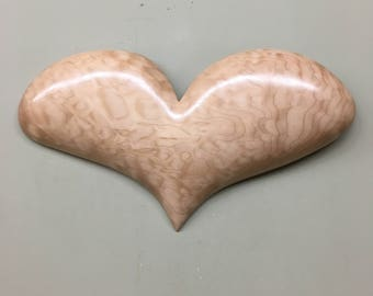 Wooden Heart art wood carving Home Decor Wall Hanging Wedding Gift
