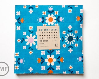 Welsummer Ten by Tens, Layer Cake, Kim Kight, Cotton and Steel, RJR Fabrics, Pre-Cut Fabric Squares, K3999-054