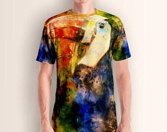 Wild nature, toucan, Men's T-shirt