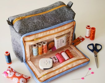 All In One Box Pouch - Paper Sewing Pattern by Aneela Hoey