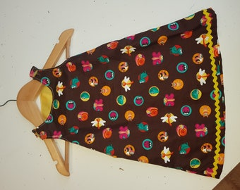 Brown insect patterned dress (Newborn)