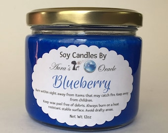 Blueberry 12oz Soy Wax Candle