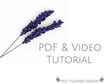 Flower tutorial - wild flower - PDF tutorial - felt