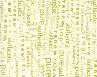 Authentic Etc (5675 13) Green Cream Word Play by Sweetwater