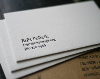 The Agent  – Custom Letterpress Printed Calling Cards 100ct