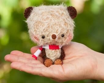 Plushie bear, miniature softie, blythe pet -made to order- Happy Bibu -