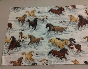 Horses in the Snow fabric 250198