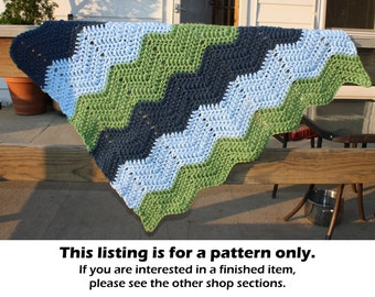 Easy crochet pattern, crochet baby blanket pattern, easy baby blanket pattern, chevron baby blanket, chunky baby blanket, baby afghan