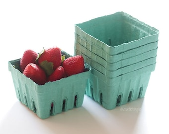 15 Berry Baskets Pint Size Garden Party Favors Strawberry Basket Fruit Cartons Wedding, Birthday, Baby Shower